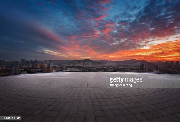 sunset view of beijing cityscape - majestic stock pictures, royalty-free photos & images