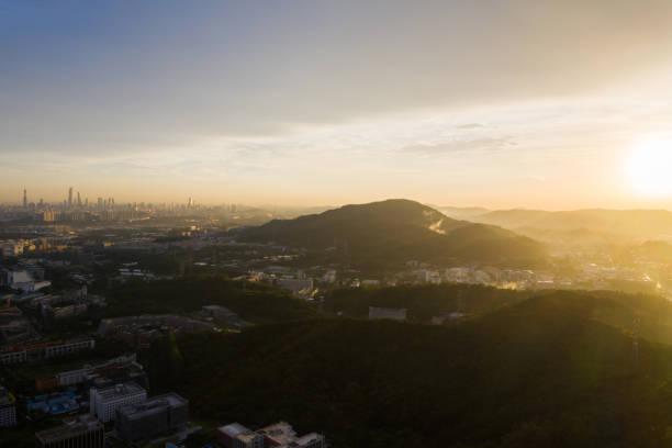 Sunset view of guangzhou