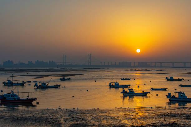 Sunset View of Hanjin Port, Dangjin, South Korea