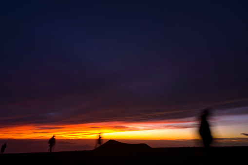 Sunset view of Mauna Kea Observatories in Hawaii - gettyimageskorea