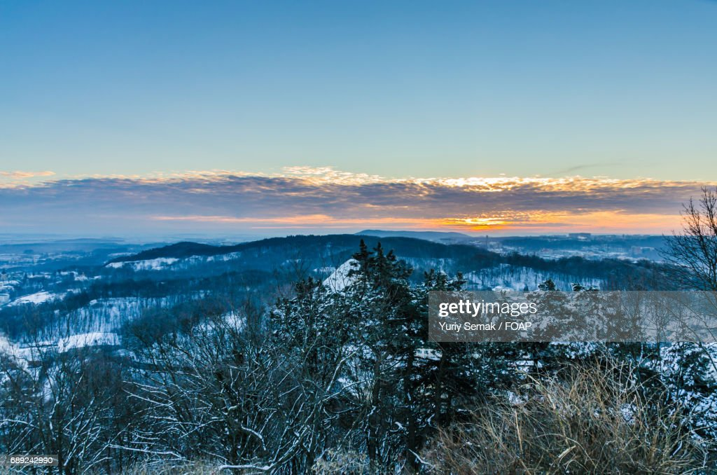 Sunset view of mountains : Stock Photo