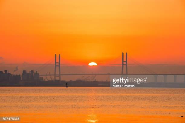 Sunset view of Seohaedaegyo Bridge