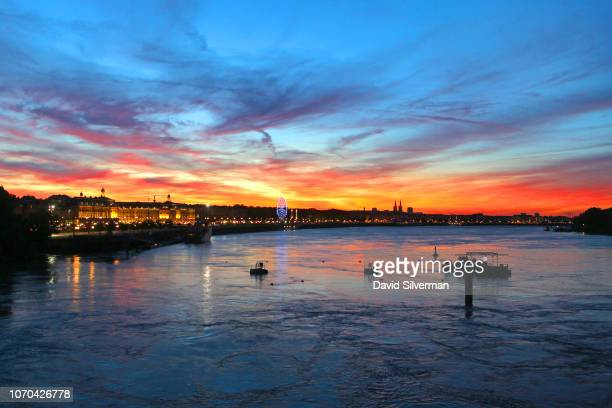 A sunset view of the Garonne River on June 24 2018 in Bordeaux France Direct international flights as well as a twohour highspeed rail line from...