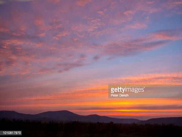 A sunset viewed from the TransSiberian Railway from MoscowVladivostok Spanning a length of 9289km it's the longest uninterrupted single country train...