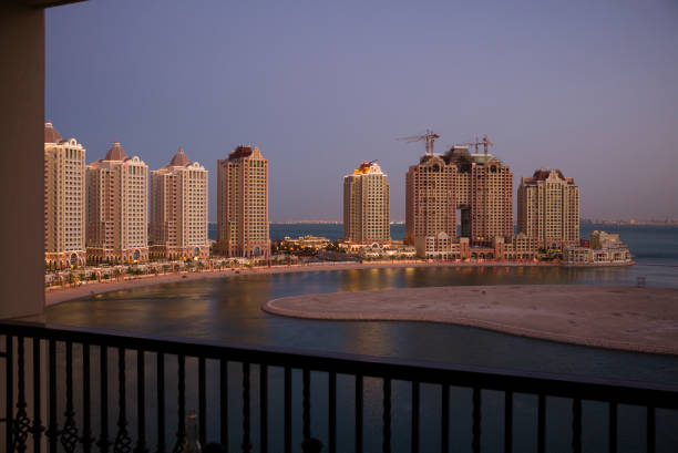 Sunset viewing from Doha's The Pearl.