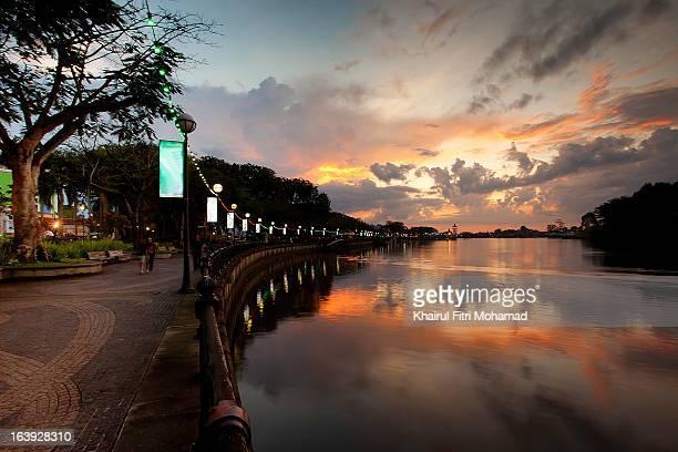 sunset walk - sarawak state stock pictures, royalty-free photos & images