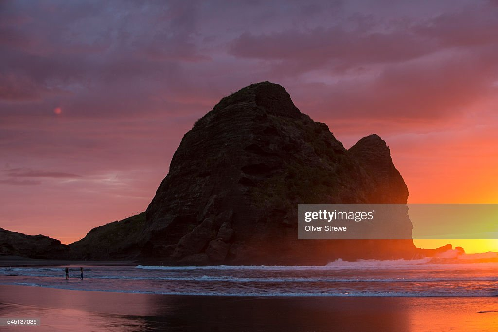 sunset west coast auckland