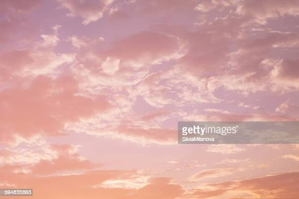 Sunset with pink clouds