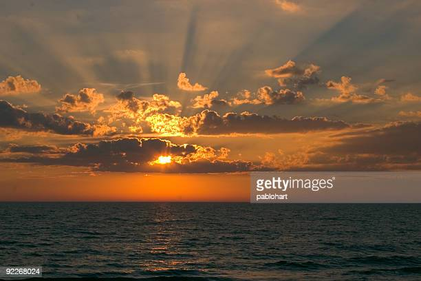 Sunset with Rays of Light