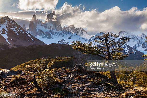 Sunset with view of Mount Fitz Roy