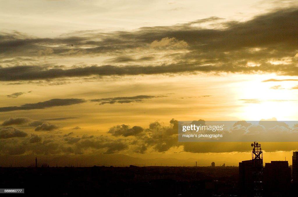 Sunset, Yokohama, Japan : Stock Photo