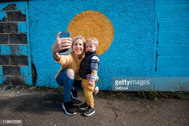 sunshine and selfies - aunt stock pictures, royalty-free photos & images