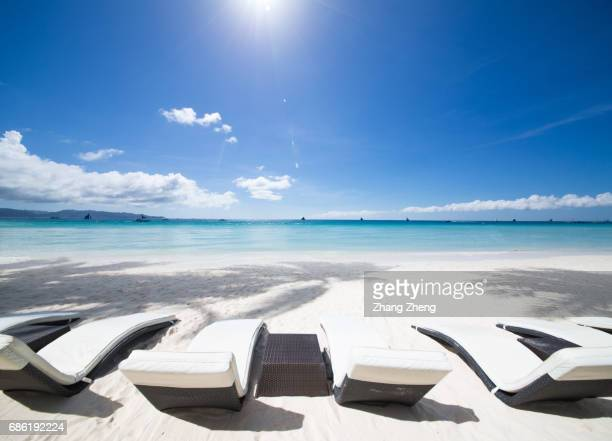 sunshine beach and blue sky