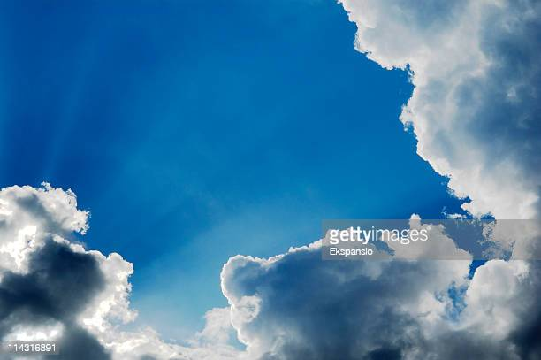 sunshine breaking out - calm before the storm stock pictures, royalty-free photos & images