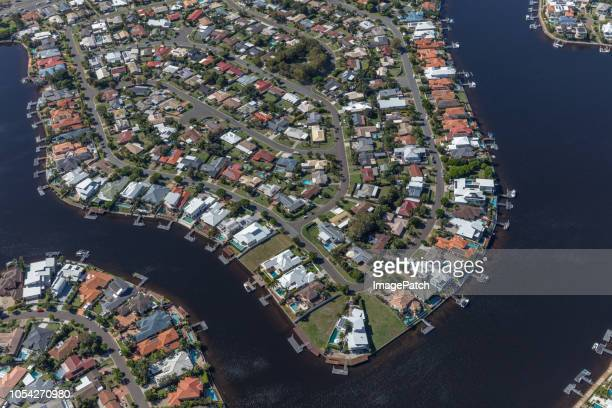 Sunshine coast luxury lifestyle suburb with many waterfront properties