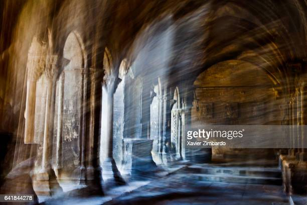 Sunshine comes into the cloister on November 9 2011 in the Church of SaintTrophime Arles France This Roman Catholic church and former cathedral was...