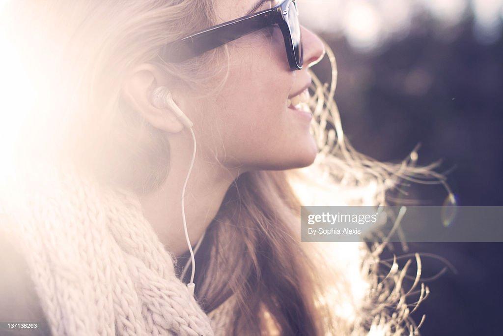Sunshine eyes : Stock Photo
