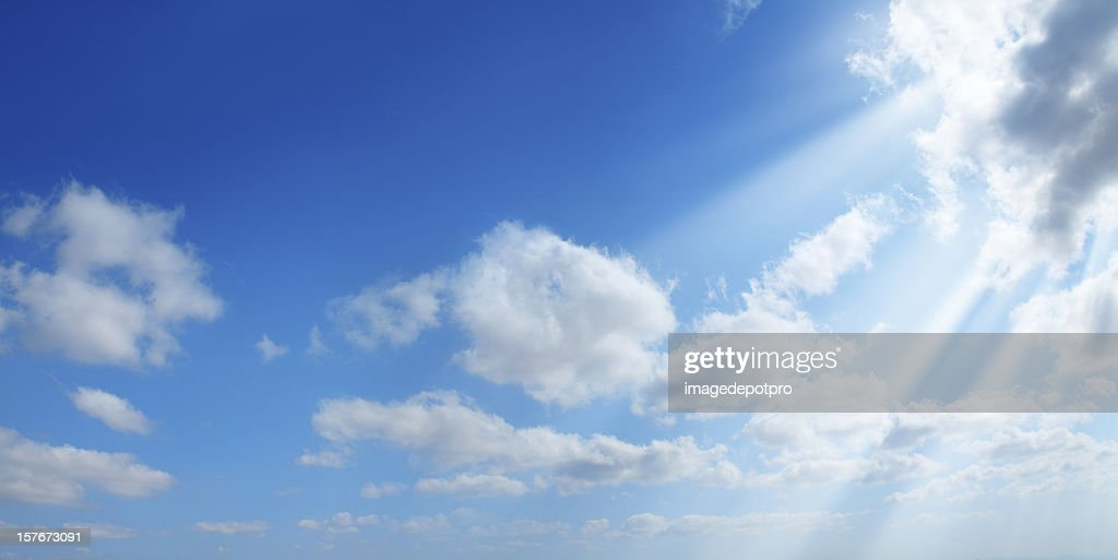 sunshine in clean sky : Stock Photo