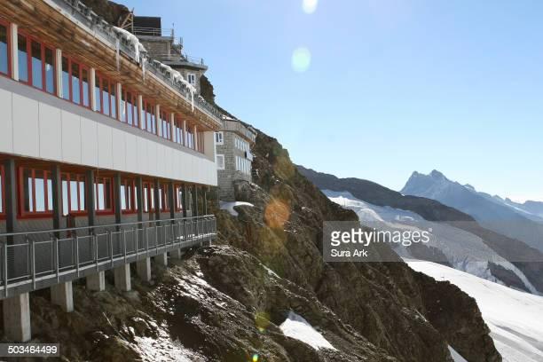 Sunshine in Jungfraujoch Switzerland