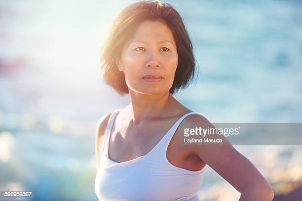 Sunshine On The Water - Mature Woman