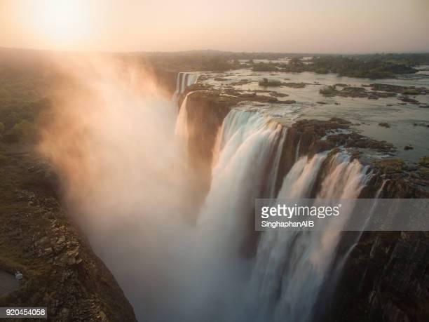 sunshine on Victoria Falls