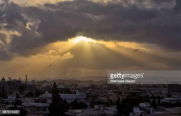 Sunshine over Karachi city