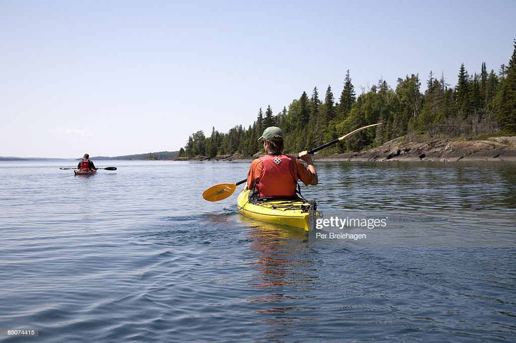 sunshine paddle in Rock Harbor : Stock Photo