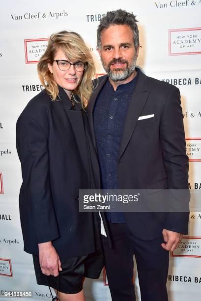 Sunshine Ruffalo and Mark Ruffalo attend Tribeca Ball to benefit New York Academy of Art at New York Academy of Art on April 9 2018 in New York City...