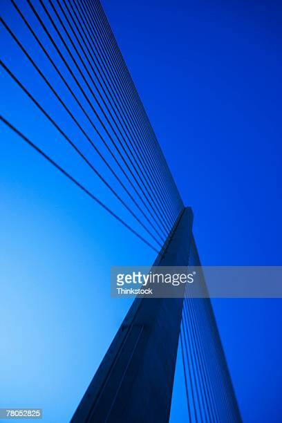 sunshine skyway bridge near st petersburg, florida - sunshine skyway bridge stock photos and pictures