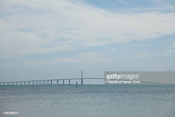 sunshine skyway bridge, tampa, florida, usa - sunshine skyway bridge stock photos and pictures