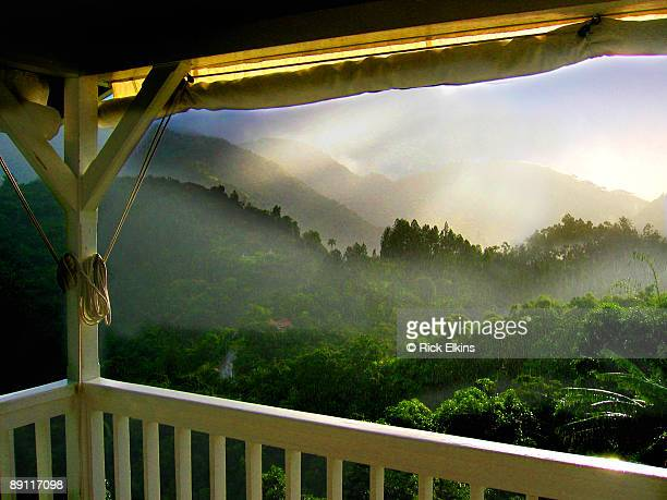 sunshower in jamaica - jamaica stock pictures, royalty-free photos & images