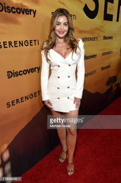 Sunéssis de Brito attends Discovery's Serengeti premiere at Wallis Annenberg Center for the Performing Arts on July 23 2019 in Beverly Hills...