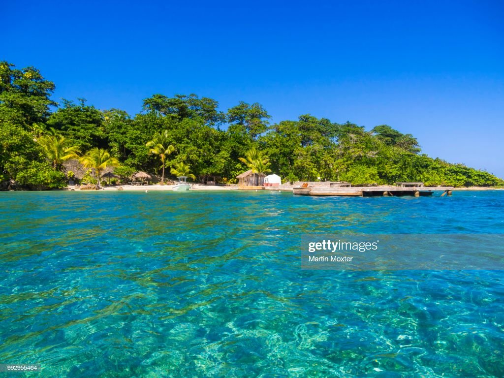 Sunsun Beach Blue Lagoon Jamaica High Res Stock Photo
