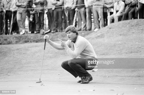 Suntory World Match Play Championship at Wentworth, Friday 7th October 1983. Nick Faldo.
