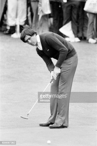 Suntory World Match Play Championship at Wentworth, Friday 7th October 1983. Seve Ballesteros.