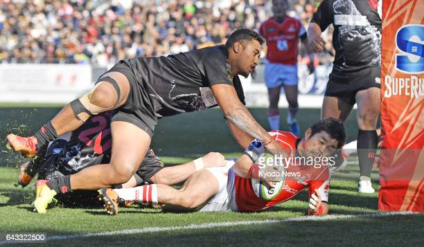 Sunwolves scrumhalf Fumiaki Tanaka seen here scoring a try against the Top League AllStars in Kitakyushu western Japan on Feb 18 says the team need...