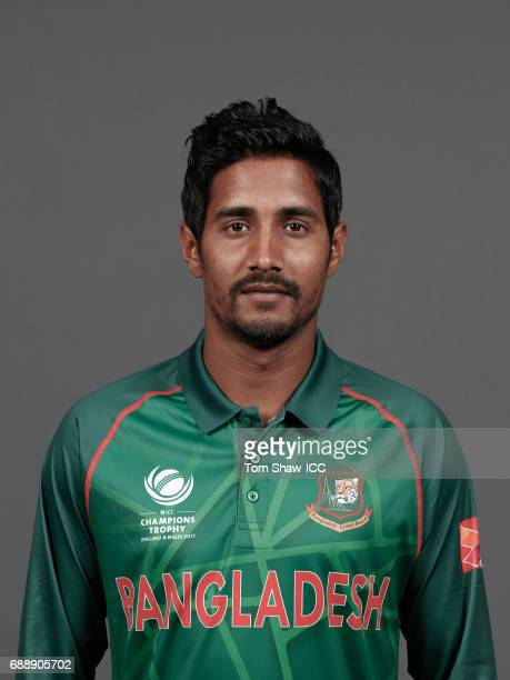 Sunzamul Islam of Bangladesh poses for a picture during the Bangladesh Portrait Session for the ICC Champions Trophy at Grand Hyatt on May 26 2017 in...