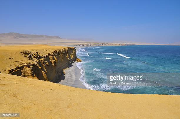 Supay Beach and Ocean in Paracas Desert