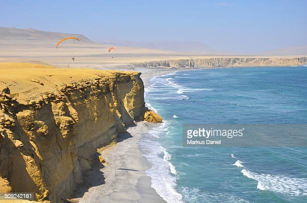 "supay beach and ocean in paracas desert - ""markus daniel"" stock pictures, royalty-free photos & images"