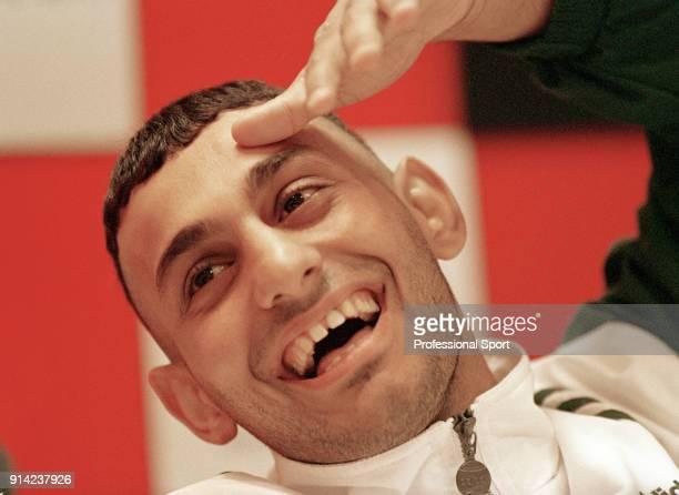 Super bantamweight boxer Prince Naseem Hamed of Great Britain circa 1996