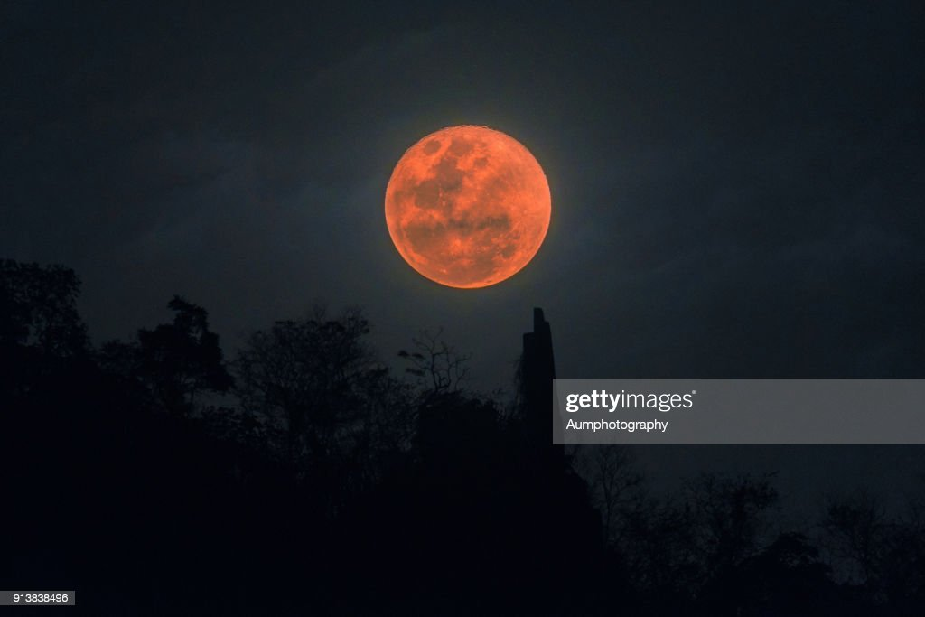 Super blood Blue moon : Stock Photo