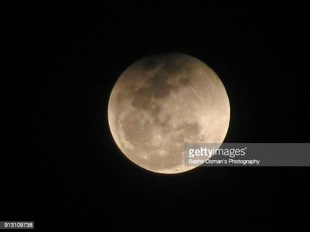 super blue blood moon 2018 - lunar eclipse stock pictures, royalty-free photos & images