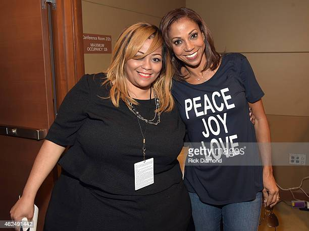 Super Bowl Gospel Celebration Founder/Executive Producer Melanie FewHarrison and actress Holly Robinson Peet attend the 16th Annual Super Bowl Gospel...