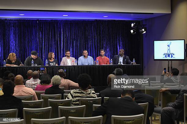 Super Bowl Gospel Celebration Founder/Executive Producer Melanie FewHarrison Gospel singer Fred Hammond actress Holly Robinson Peete AFI contest...