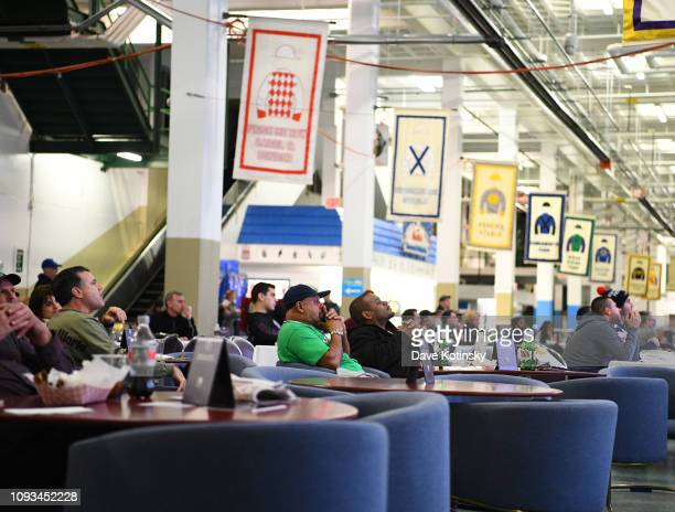 Super Bowl Sunday at Monmouth Park Sports Book by William Hill on February 3 2019 in Oceanport New Jersey