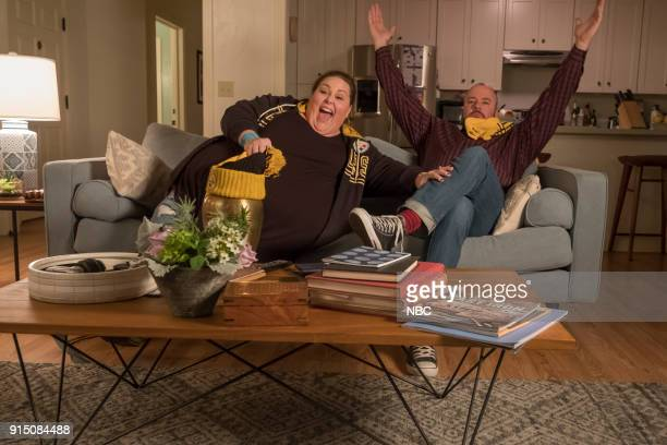 "Super Bowl Sunday"" Episode 214 -- Pictured: Chrissy Metz as Kate, Chris Sullivan as Toby --"