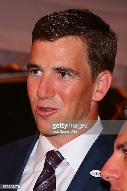 Super Bowl XLII XLVI MVP Eli Manning on the Red Carpet for the 5th Annual NFL Honors at the Bill Graham Civic Auditorium in San Francisco California