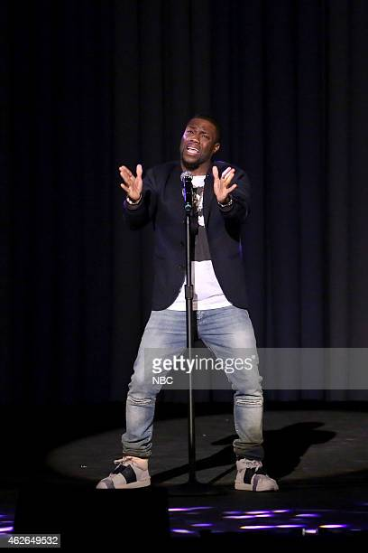 FALLON 'Super Bowl XLIX' Pictured Actor Kevin Hart during a lipsynch battle on February 1 2015