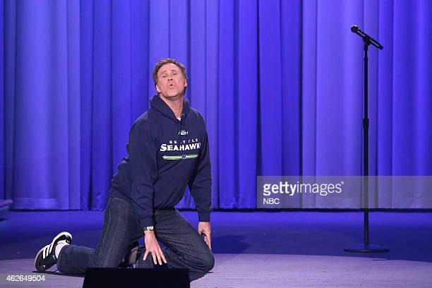 FALLON 'Super Bowl XLIX' Pictured Actor Will Ferrell during a lipsynch battle on February 1 2015
