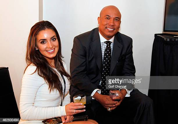 Lindsey GeorgalasWard and NBC football analyst Hines Ward attend Feherty Live at the Orpheum Theatre Phoenix Arizona